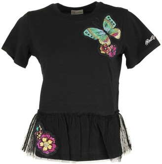 RED Valentino T-shirt Forest Printed Black