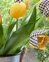 Mackenzie Childs MacKenzie-Childs Courtly Check and Yellow Faux Tulip