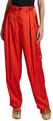 Dries Van Noten High-Rise Pleated Cargo Pants