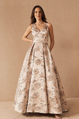 Anthropologie BHLDN Adema Dress By in Silver Size 4