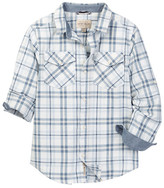 Lucky Brand Twill Plaid Shirt (Big Boys)