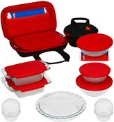 Pyrex 21-Piece Bake, Prep, Store, and Transport Bakeware Set