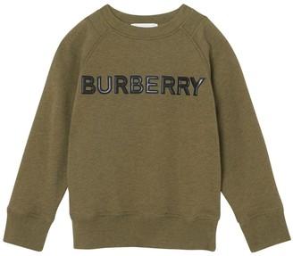 Burberry Rubber Logo Cotton Sweatshirt