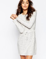Asos Lounge Dress In Knit With Tie Waist Detail
