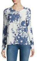 Calvin Klein Jeans Crisscross-Front Floral Blouse