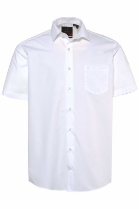 JP 1880 Men's Big & Tall Easy Care Short Sleeve Shirt White XX-Large 713990 20-XXL