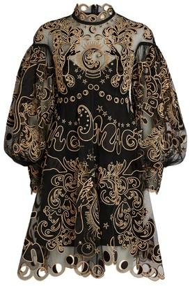 Zimmermann Ladybeetle Fortune Tulle Mini Dress