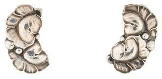 Georg Jensen Double Leaf Earrings
