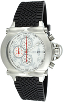 Equipe Silver & White Rollbar Chronograph Watch