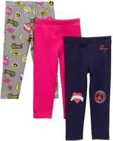 Betsey Johnson Emoji PrintSolid Leggings - Pack of 3 (Baby Girls)