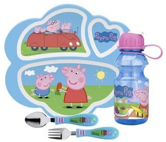 Zak Designs 4pc Peppa Pig Dinnerware And Drinkware Set
