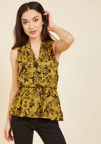 Jessy B Great Gal in the Corner Office Sleeveless Top in Mustard