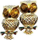 One Kings Lane Vintage 1930s Coro Duette Owl Brooch/Clips