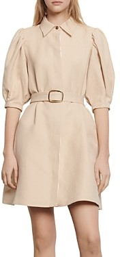 Sandro Luno Belted Short Dress