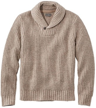 L.L. Bean Men's Signature Ragg Wool Sweater, Shawl Pullover