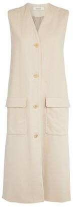 MARK KENLY DOMINO TAN Wool-Blend Viv Sleeveless Overcoat