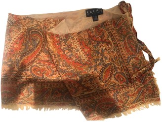 Lauren Ralph Lauren Orange Wool Skirt for Women