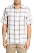 Tommy Bahama Men's Pintinga Plaid Standard Fit Camp Shirt