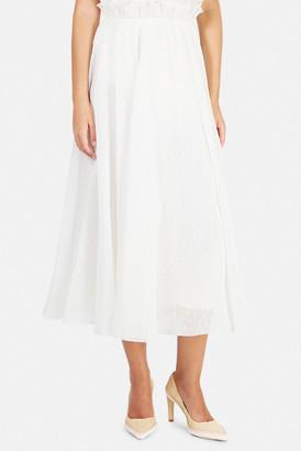 Zimmermann Pleated Dot Skirt