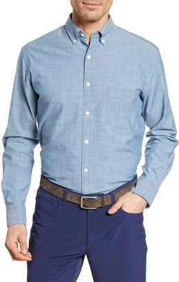 Peter Millar Classic Fit Chambray Button-Down Shirt