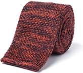 Gibson Navy And Orange Melange Knit Tie