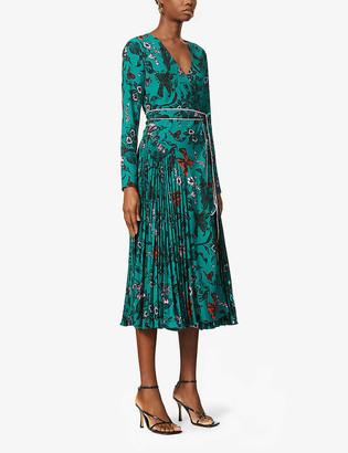Diane von Furstenberg Amiya floral-pattern crepe maxi dress