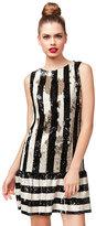 Betsey Johnson Sequin Stripetastic Dress