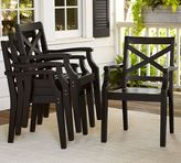 Pottery Barn Hampstead Stacking Dining Chair - Black