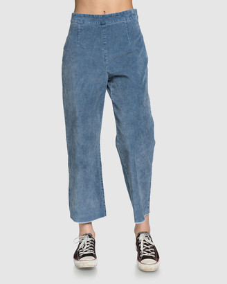 Quiksilver Womens Flared Cord High Waist Pant