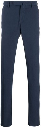 Incotex Crepe Cotton Slim Fit Trousers