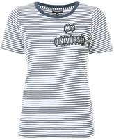 Emporio Armani patch-appliqué striped T-shirt