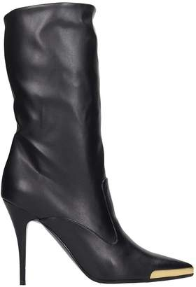 Stella McCartney High Heels Ankle Boots In Black Faux Leather