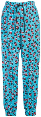 Love Moschino Leopard Print Jogging Pants
