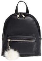 BP Faux Leather Mini Backpack - Black