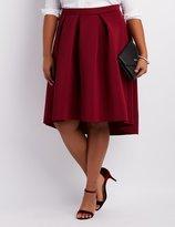 Charlotte Russe Plus Size Full Pleated Scuba Skirt