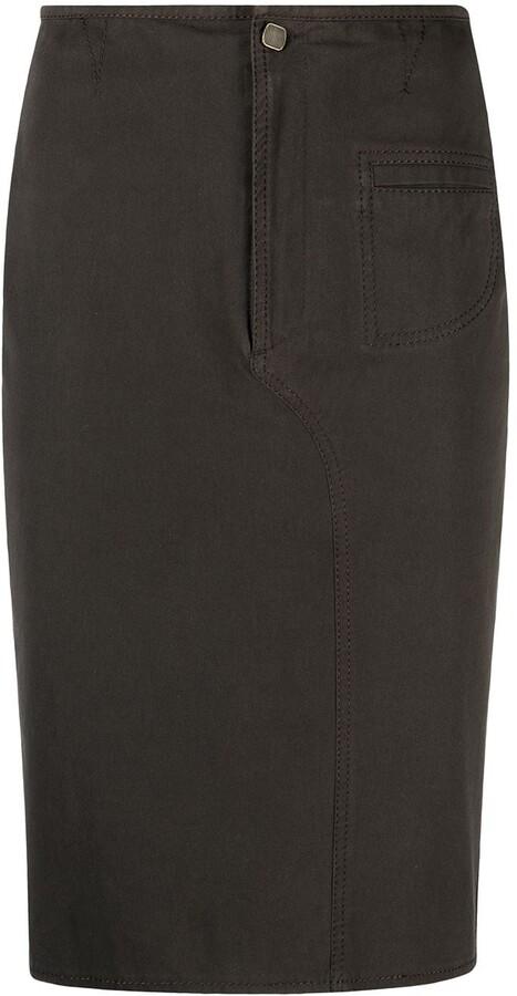 Fendi Pre-Owned 2000s Midi Pencil Skirt