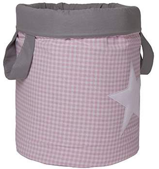 Camilla And Marc Funny Baby Vichy juguetero Padded 30 x 40 cm, Design Stars, Pink