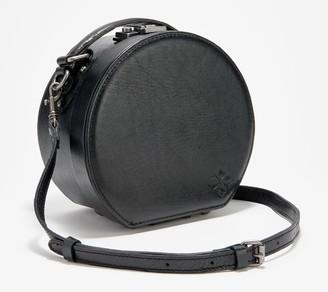 Patricia Nash Leather Hat Box Handbag - Allier