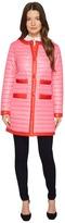 Kate Spade 32 Quilted Contrast Binding Coat Women's Coat