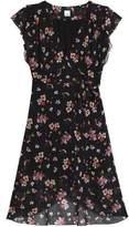 Iris & Ink Moe Wrap-Effect Floral-Print Chiffon Dress