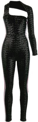 NO KA 'OI No Ka' Oi one sleeve sequin jumpsuit