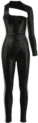 NO KA 'OI One Sleeve Sequin Jumpsuit