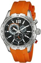 Nautica Men's NAD15510G NST 30 Analog Display Quartz Orange Watch