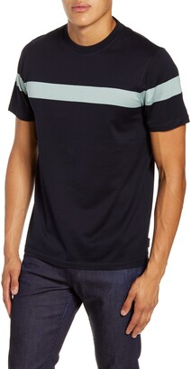 Ted Baker Relaxa Slim Fit Stripe Crewneck T-Shirt