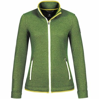 Giesswein Women Jacket Sina Green 40 - Functional Walking Jacket Made of 100% Merino Wool Sportswear Made of Wool Sports Vest with Stand-up Collar Breathable and Temperature-regulating Clothing