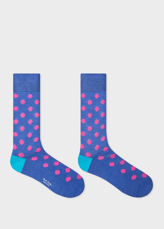 Thumbnail for your product : Paul Smith Men's Blue Bright Spot Socks