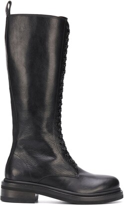Buttero Calf-Length Lace-Up Boots