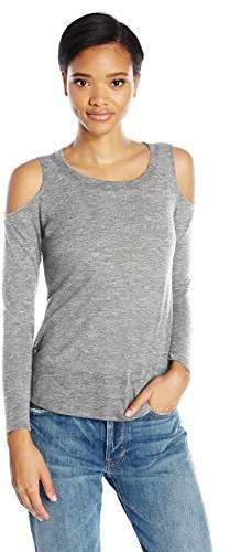 Splendid Women's Melange Cold Shoulder Top