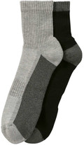 Joe Fresh Men's 2 Tone Sport Socks, Grey (Size 10-13)