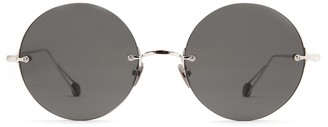 AHLEM Place De La Rotonde White Gold Sunglasses